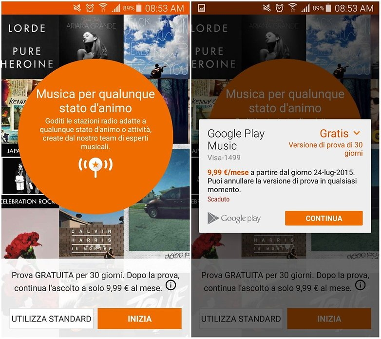 google play music ITA