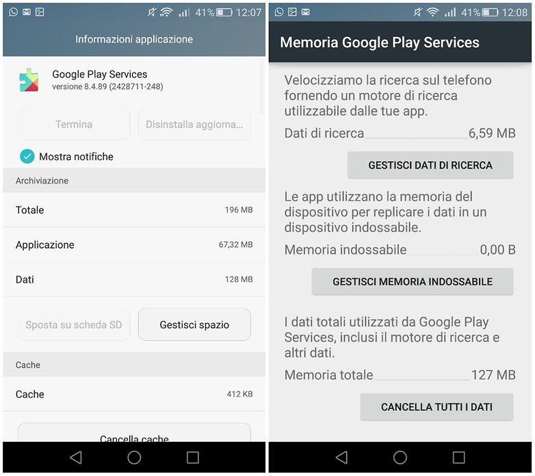 google play services dati