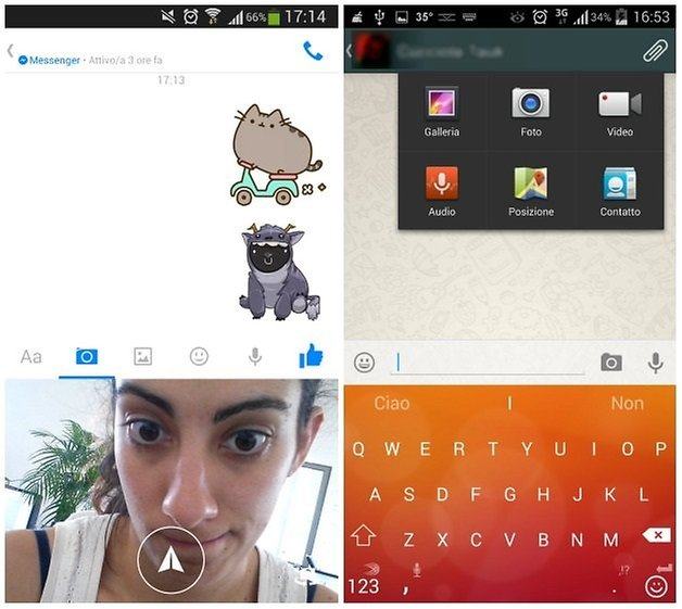 messenger whatsapp uno