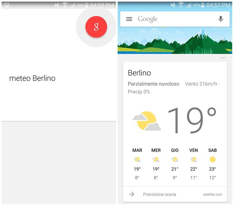 meteo berlino google now