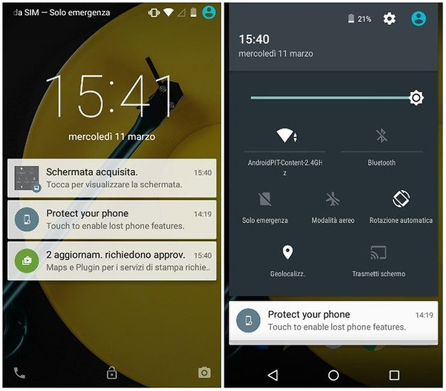 moto e 2015 screenshots IT