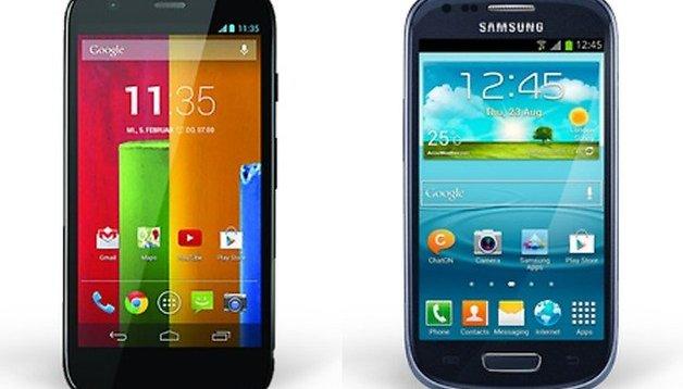 Galaxy S3 Mini vs Motorola Moto G: l'epica sfida della terra di mezzo