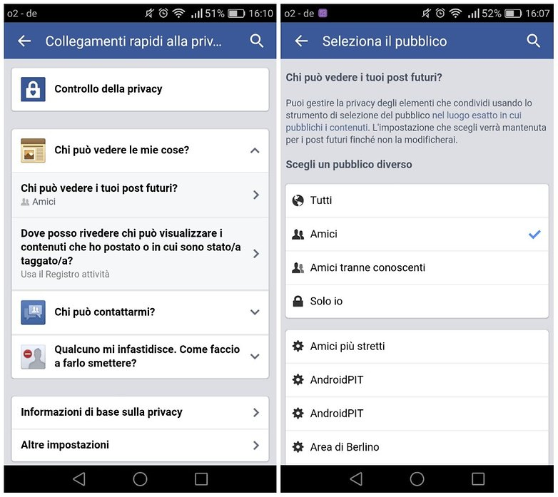 privacy facebook ITA 2