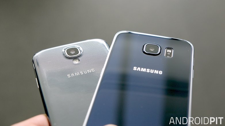 samsung galaxy s6 vs s4 design back