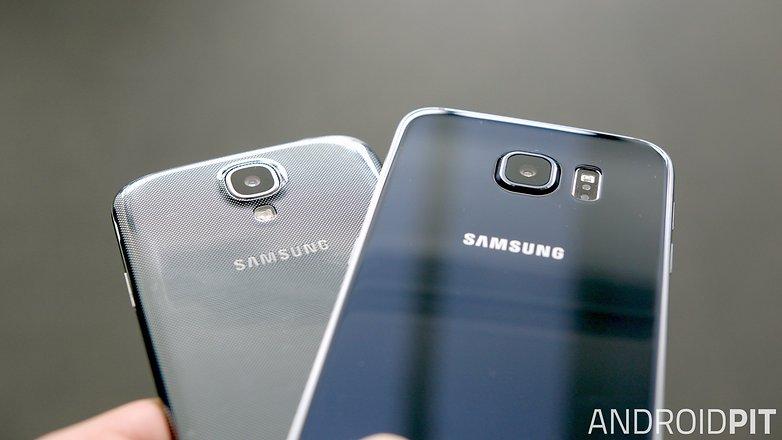 samsung galaxy s6 vs s4 design back