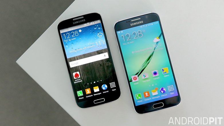 samsung galaxy s6 vs s4 display