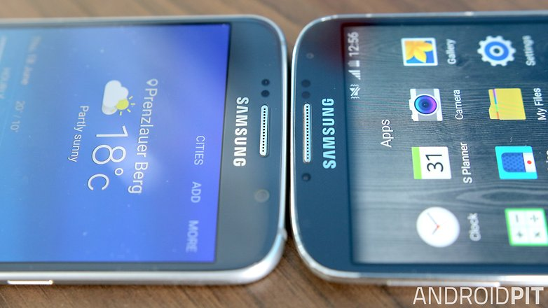 samsung galaxy s6 vs s4 front