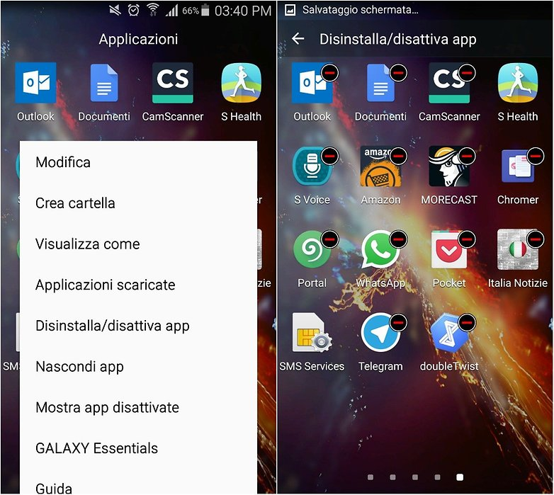 samsung uninstall apps