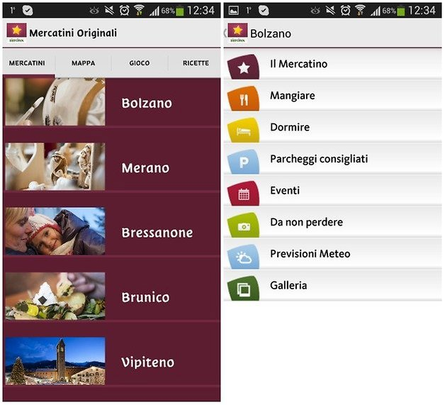screenshot mercatini natale