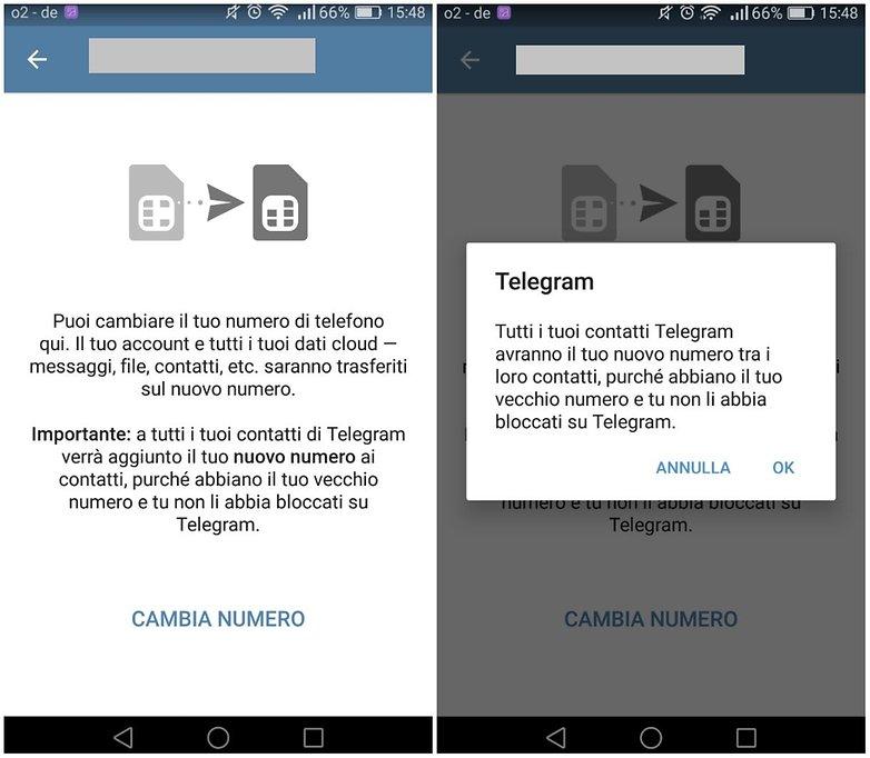 telegram app numero