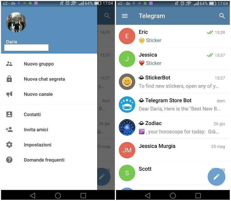 telegram home 1screen