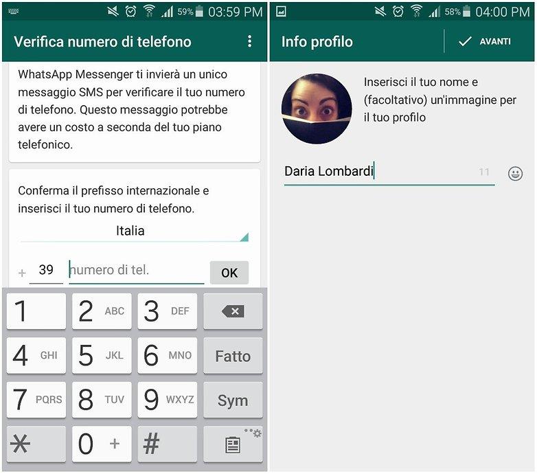 whatsapp configurazione