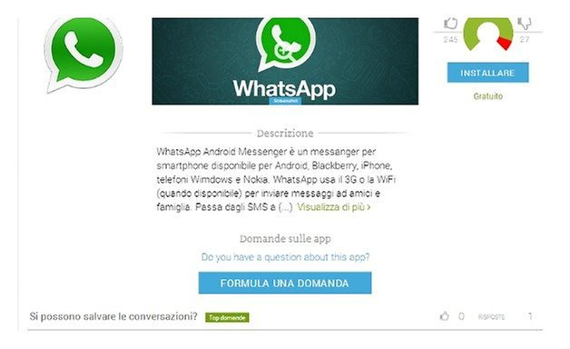 whatsapp page
