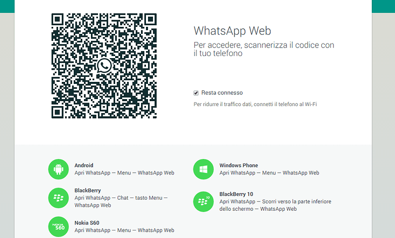 whatsapp web log in IT