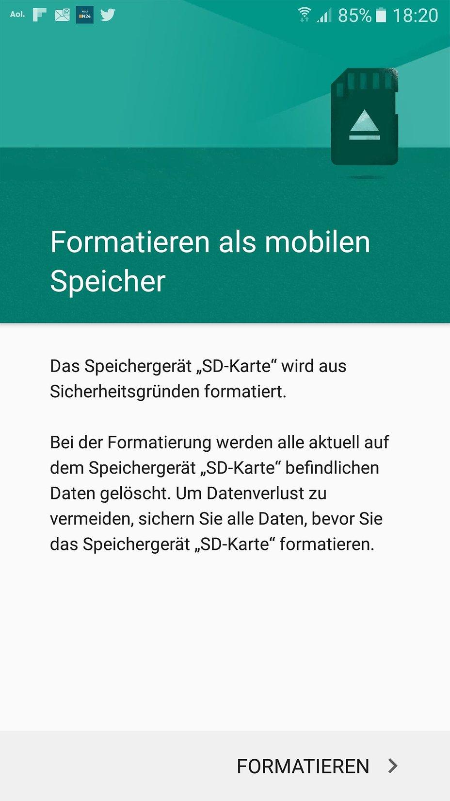 Micro Sd Karte Formatieren.Samsung Galaxy A5 2016 128 Gb Microsd Karte Als Internen