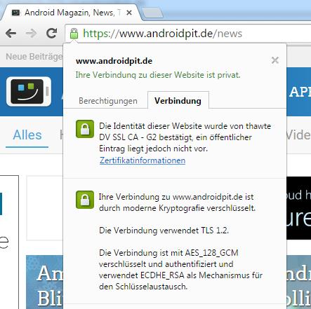 Ständige Meldung über nicht sichere Seite | AndroidPIT