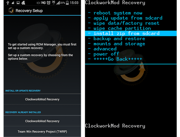 ClockworkMod Recovery screenshot 1
