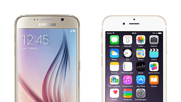 galaxy s6 edge iphone 6 gold