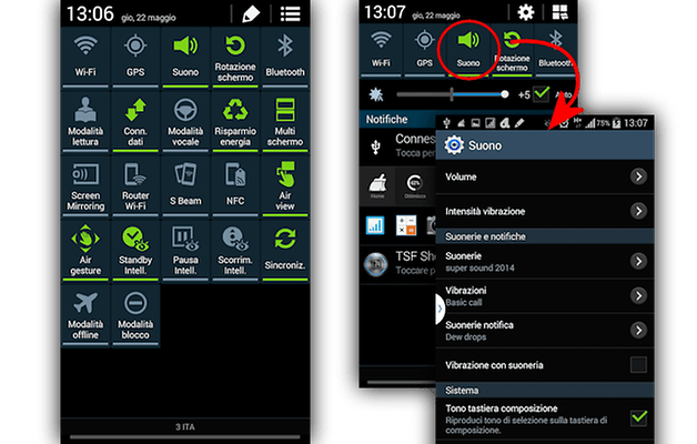 note 3 notifiche
