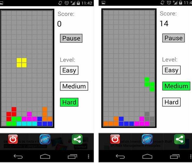 Klassische Offline Tetris