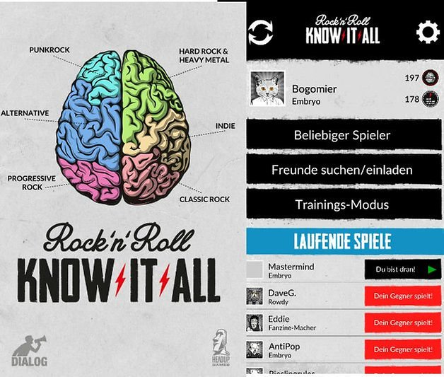 RocknRoll Knowitall interface