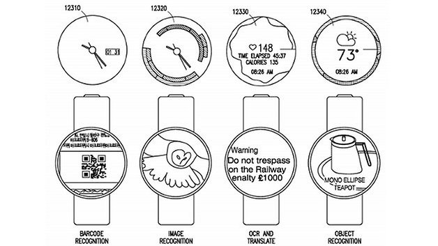 Samsung Patent Smartwatch UI and Camera Capture