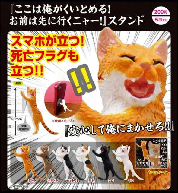cat scratch phone stand