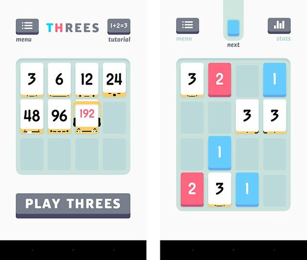 threes screenshot android