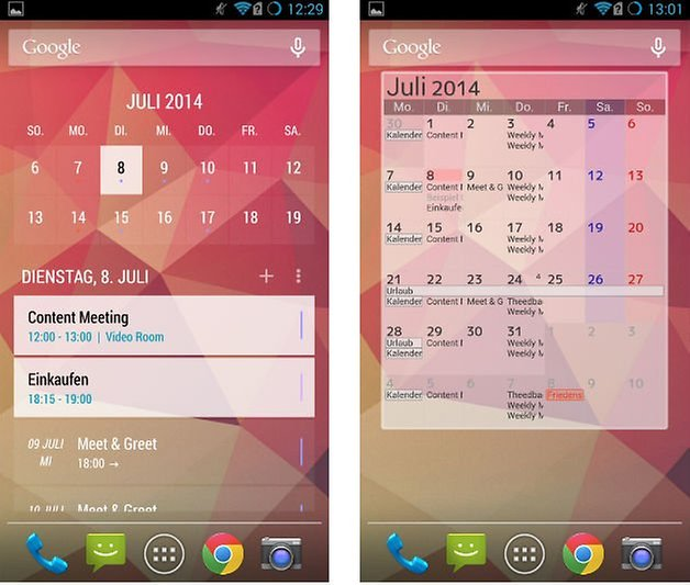 today calendar jorte widgets