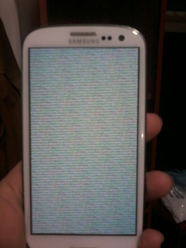 Samsung Galaxy S3 Grey Lines Screen Androidpit Forum