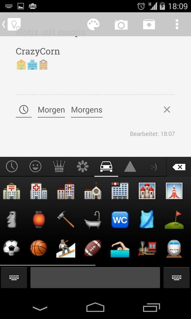 03 emoji keybord crazycorn
