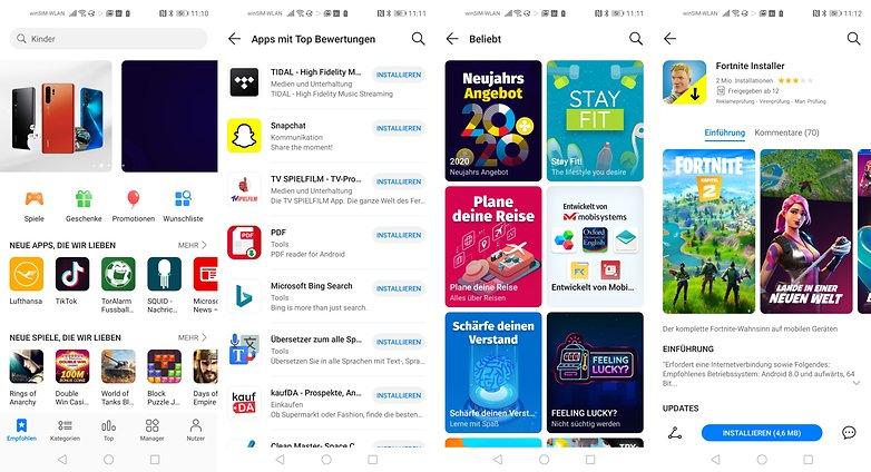 Die AppGallery füllt sich geschwind mit hier relevanten Apps. / © AndroidPIT