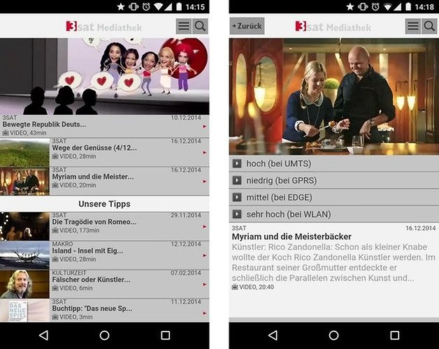 3sat mediathek android app