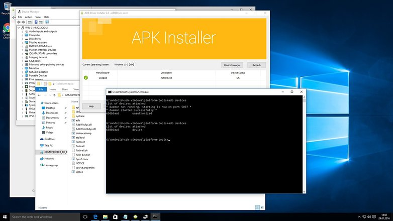 adb driver installer windows 10