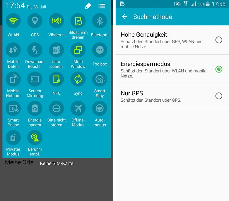 android gps settings save energy de