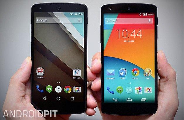 android l kitkat vergleich nexus 5 teaser