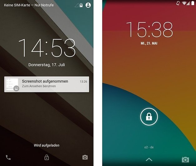android l kitkat lockscreen