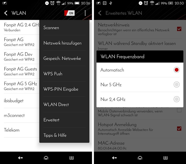 android marshmallow wifi connection de