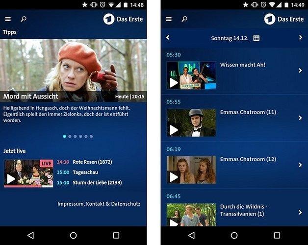 das erste mediathek android app