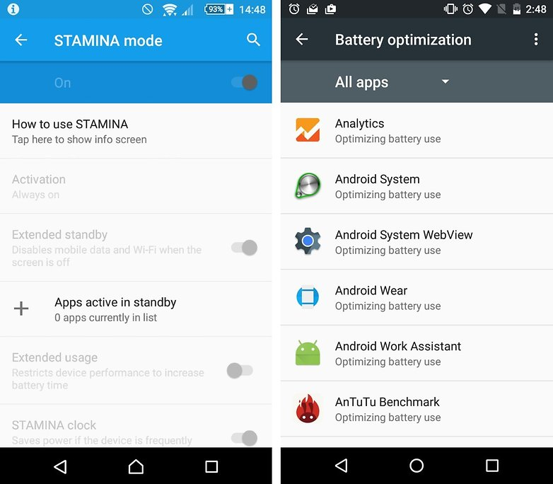 doze vs stamina apps