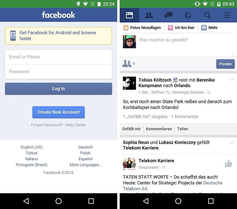 facebook web app de