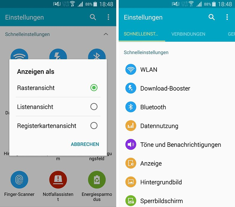 galaxy s5 touchwiz samsung settings order de