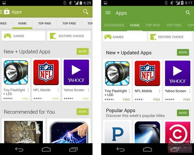 google play store app page