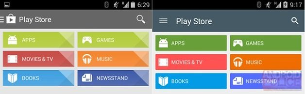 google play store colors