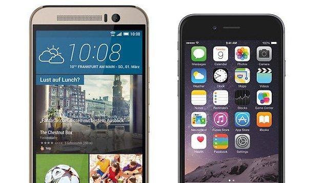 HTC One M9 vs. iPhone 6 im Vergleich: Kann HTC endlich Apple schlagen?