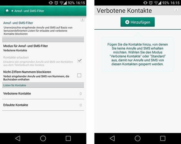 kaspersky blocked callers german