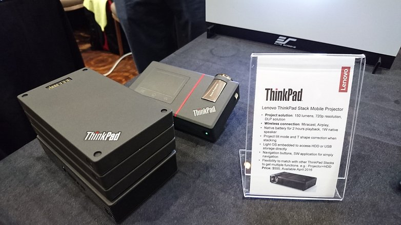 lenovo thinkpad stack projector specs ces2016