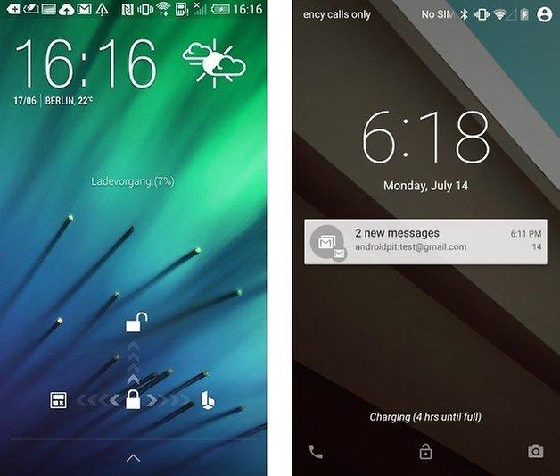 lockscreen android L htc sense