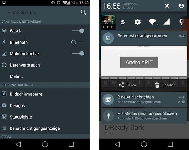 lready dark koulis settings notifications