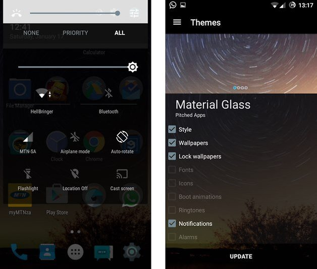 material glass theme